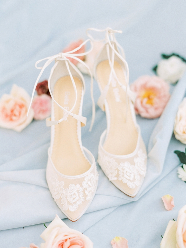 Bella Belle Wedding Shoes | Elegant Wedding Inspiration in an Old World Setting by Honey Gem Creative Photography
