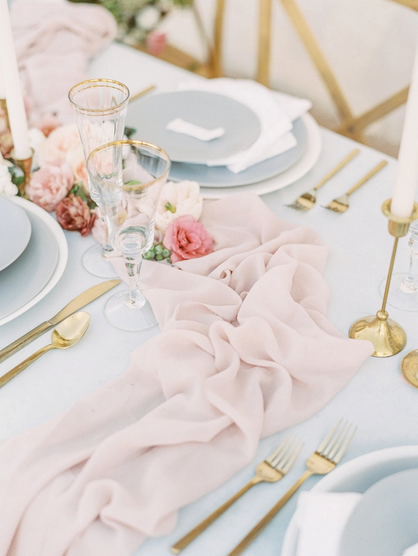 Silk Table Runner | Elegant Wedding Inspiration in an Old World Setting by Honey Gem Creative Photography