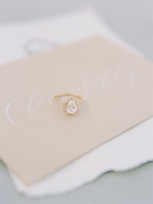 Wedding Ring | Elegant Wedding Inspiration in an Old World Setting by Honey Gem Creative Photography