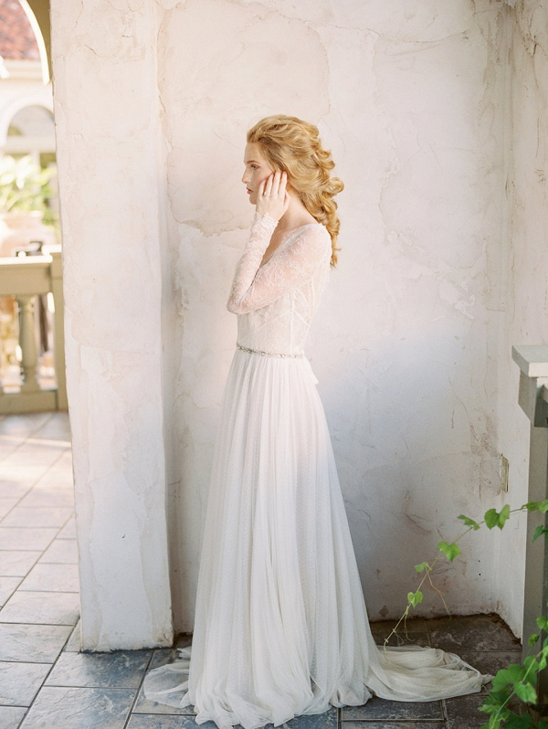 Bride in Lace | Elegant Wedding Inspiration in an Old World Setting by Honey Gem Creative Photography