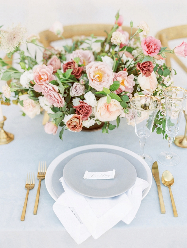 Floral Centerpiece | Elegant Wedding Inspiration in an Old World Setting by Honey Gem Creative Photography