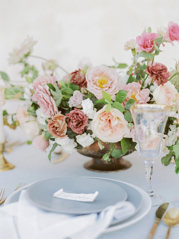 Centerpiece | Elegant Wedding Inspiration in an Old World Setting by Honey Gem Creative Photography