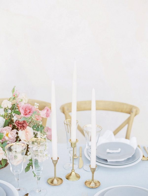 Tablescape with Candles | Elegant Wedding Inspiration in an Old World Setting by Honey Gem Creative Photography