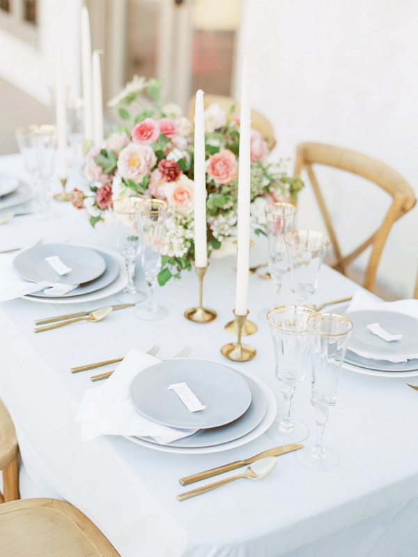 Spring Tablescape | Elegant Wedding Inspiration in an Old World Setting by Honey Gem Creative Photography