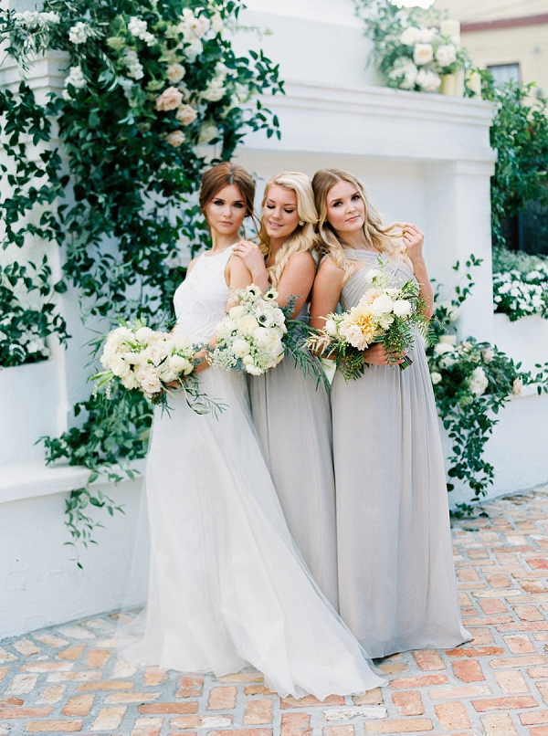 Bride and Bridesmaids | Elegant and Organic Wedding Ideas by Elyse Jennings Weddings and Greer Gattuso Photography
