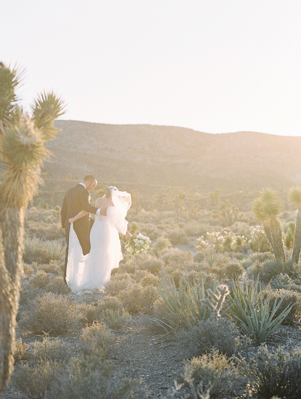 Intimate Sunset Elopement in the Mojave Desert by Gaby J Photography