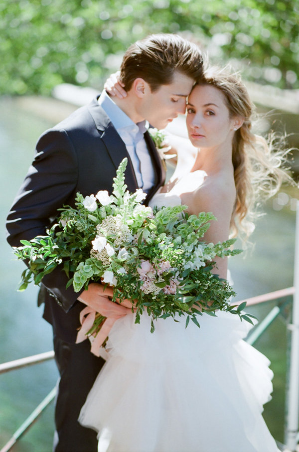 Organic Bridal Bouquet | Romantic Day After Wedding Inspiration In Provence by Tamara Gruner Photography