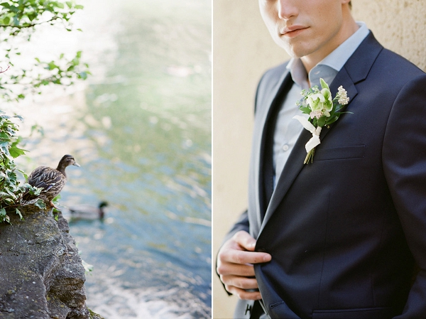 Boutonniere | Romantic Day After Wedding Inspiration In Provence by Tamara Gruner Photography