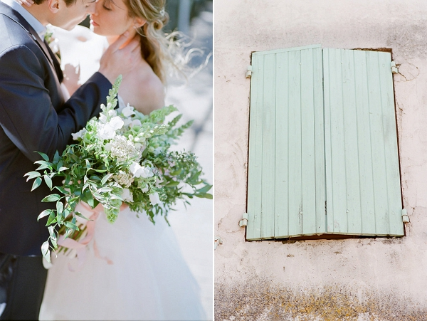 White Bridal Bouquet | Romantic Day After Wedding Inspiration In Provence by Tamara Gruner Photography