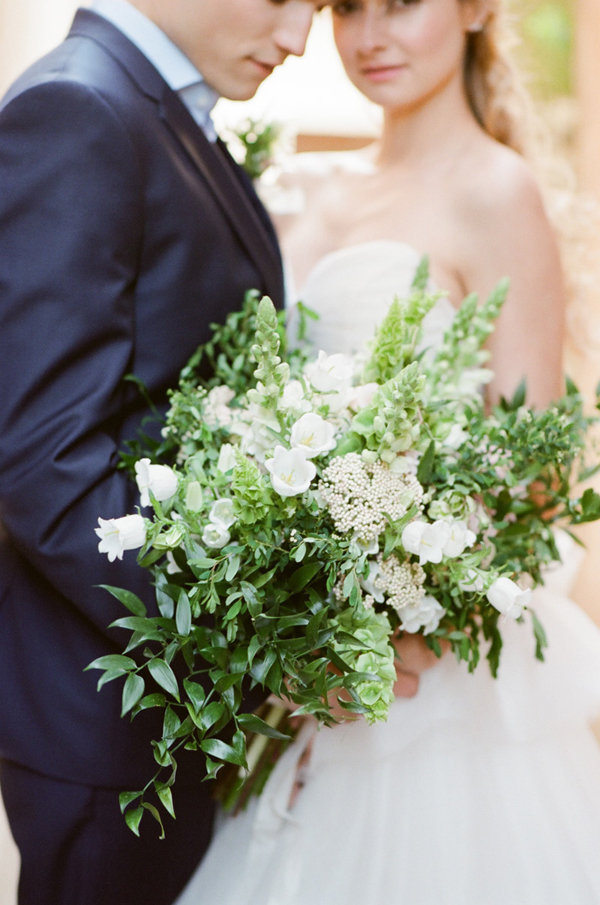 Gorgeous Organic Bouquet | Romantic Day After Wedding Inspiration In Provence by Tamara Gruner Photography
