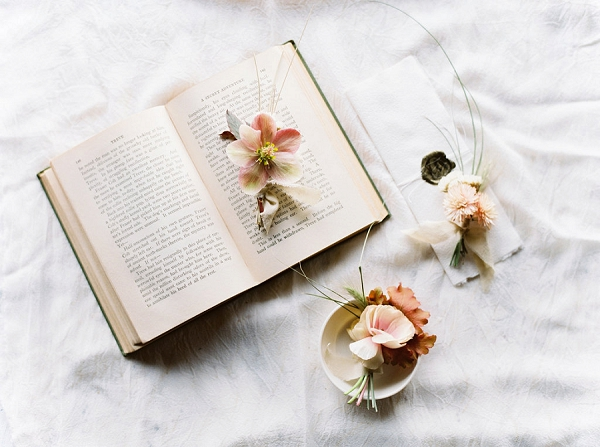 Boutonnieres | Romantic Wedding Inspiration on the Oregon Coast from Cassie Valente Photography