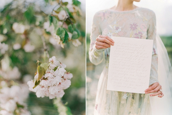 Calligraphy | Romantic Wedding Inspiration on the Oregon Coast from Cassie Valente Photography