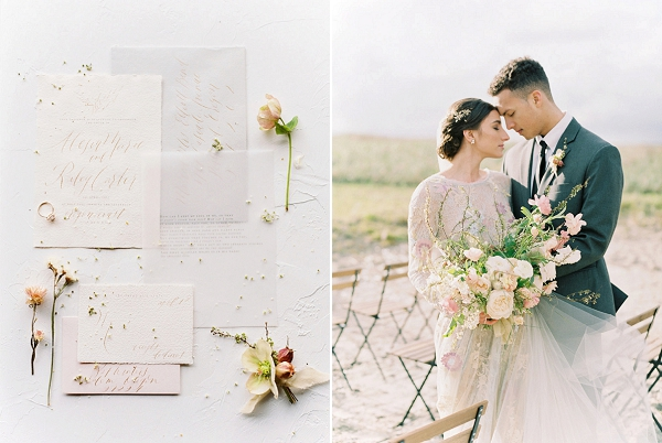 Invitation Suite | Romantic Wedding Inspiration on the Oregon Coast from Cassie Valente Photography
