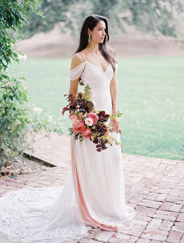 Off the Shoulder Wedding Dress | Triunfo Creek Editorial by Christine Doneé Photography