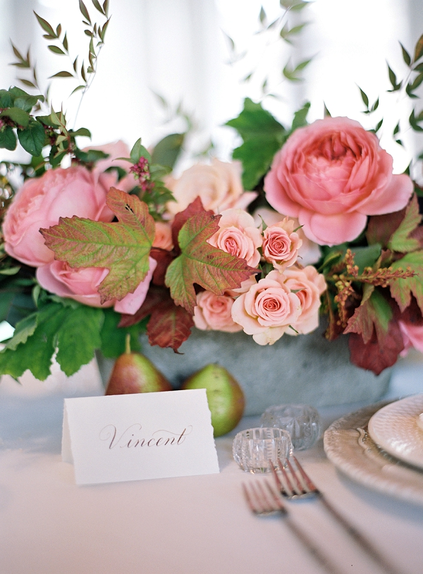 Calligraphy Place Card | Triunfo Creek Editorial by Christine Doneé Photography
