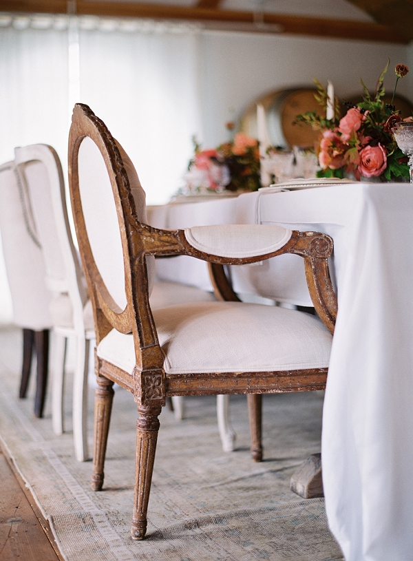 Elegant Vintage Inspired Reception Seating | Triunfo Creek Editorial by Christine Doneé Photography