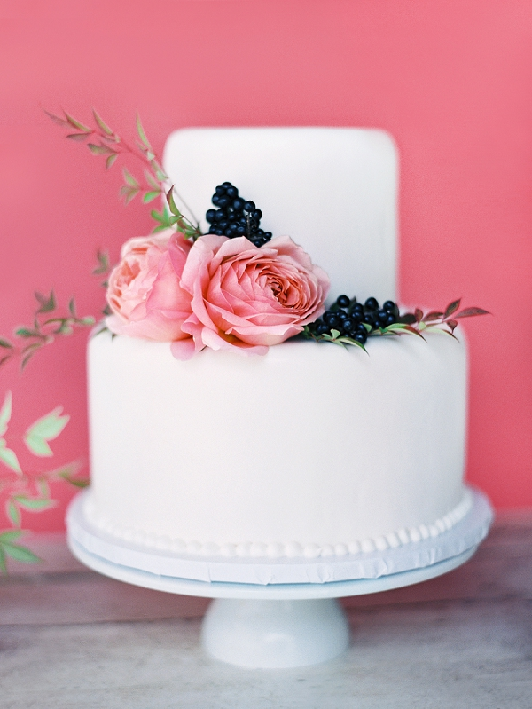 Two Tier Wedding Cake | Triunfo Creek Editorial by Christine Doneé Photography