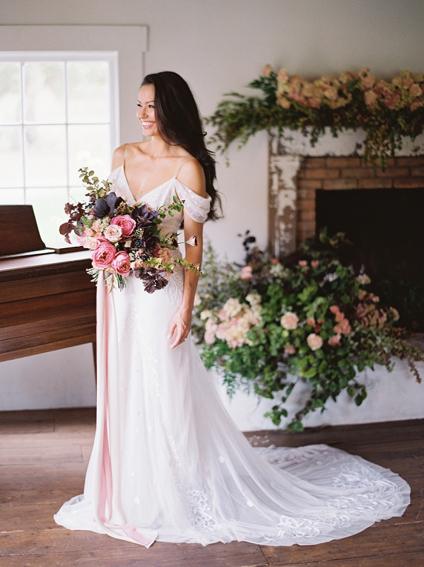 Radiant Bride with Gorgeous Bouquet | Triunfo Creek Editorial by Christine Doneé Photography