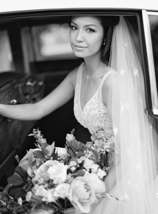 Bride in Classic Black and White Portrait | Triunfo Creek Editorial by Christine Doneé Photography