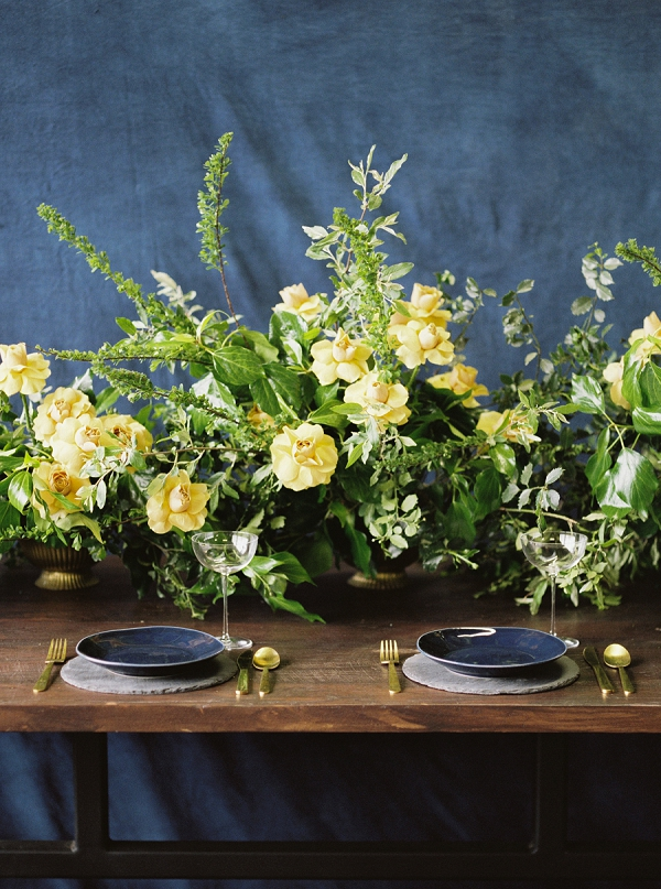 Florals | Moody and Romantic Indigo Wedding Inspiration by Jenna Powers