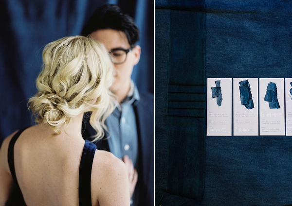 Loose Chignon | Moody and Romantic Indigo Wedding Inspiration by Jenna Powers
