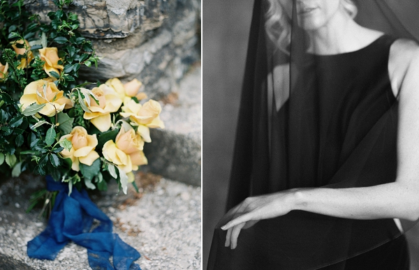 Yellow Bouquet | Moody and Romantic Indigo Wedding Inspiration by Jenna Powers