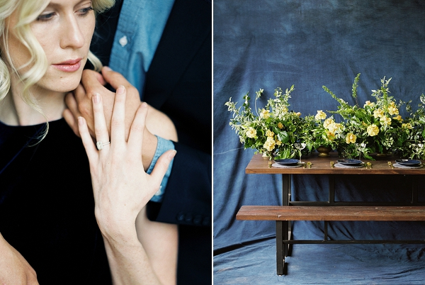 Tablescape | Moody and Romantic Indigo Wedding Inspiration by Jenna Powers