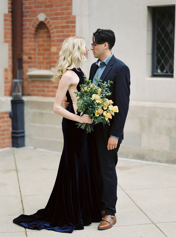 Bride and Groom | Moody and Romantic Indigo Wedding Inspiration by Jenna Powers