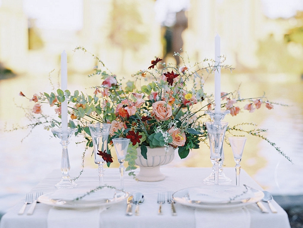 Romantic Centerpiece | Palace of The Fine Arts Elopement Ideas by Ivory & Vine Event Co. and Stephanie Brazzle Photography