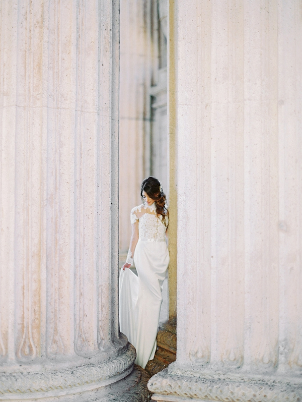 Wedding Dress By Crystal Designs | Palace of The Fine Arts Elopement Ideas by Ivory & Vine Event Co. and Stephanie Brazzle Photography