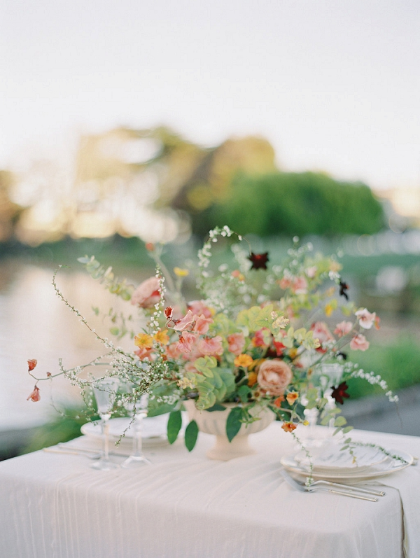 Floral Centerpiece | Palace of The Fine Arts Elopement Ideas by Ivory & Vine Event Co. and Stephanie Brazzle Photography