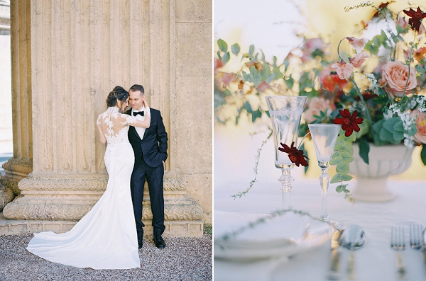 Elegant Bride and Groom | Palace of The Fine Arts Elopement Ideas by Ivory & Vine Event Co. and Stephanie Brazzle Photography
