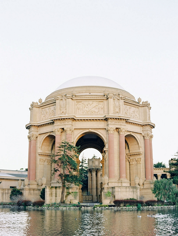 Wedding Venue Idea | Palace of The Fine Arts Elopement Ideas by Ivory & Vine Event Co. and Stephanie Brazzle Photography