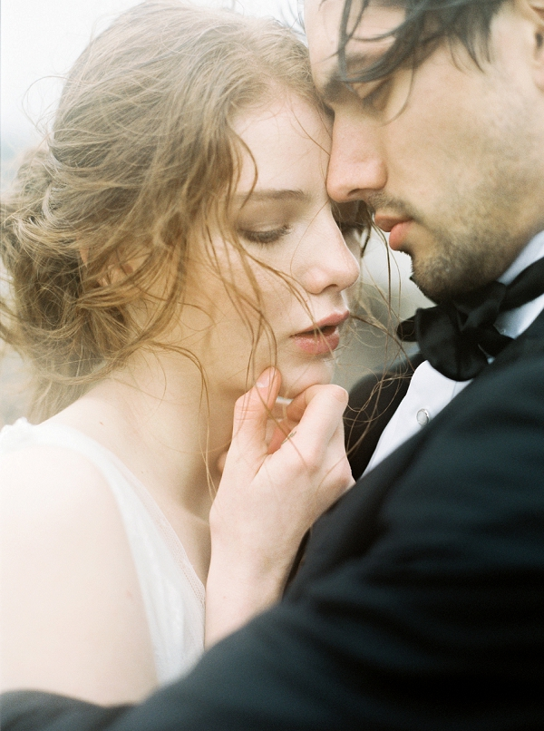 Bride and Groom | Rainy Day Elopement Inspiration by Tracy Enoch Photography and Query Events