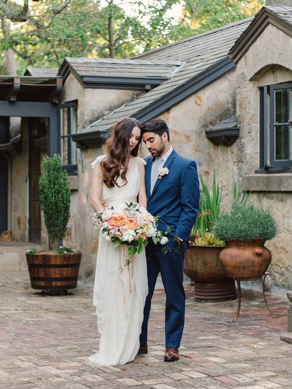Bride and Groom | Romantic Whetstone Winery Editorial By © Justina Bilodeau Photography