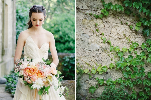 Peony Bouquet | Romantic Whetstone Winery Editorial By © Justina Bilodeau Photography