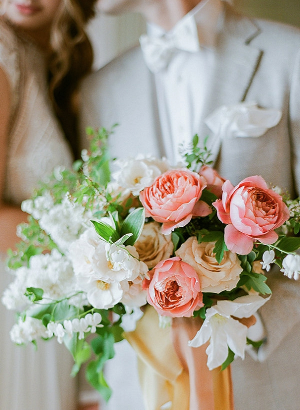 Spring Bouquet | Springtime In Paris Wedding Inspiration by Anna Grinets Photography