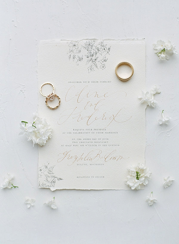 Calligraphy Invitation | Springtime In Paris Wedding Inspiration by Anna Grinets Photography