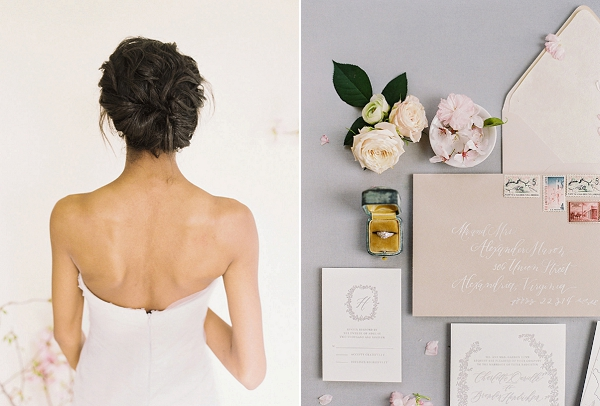 Bridal Hair | Cherry Blossom-Inspired Fine Art Wedding Ideas from Angela Newton Roy Photography