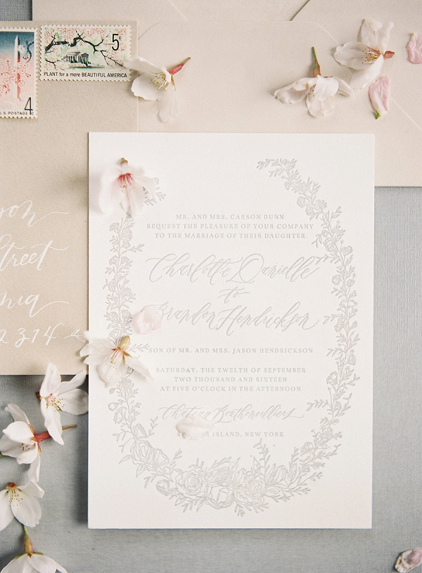 Wedding Stationery | Cherry Blossom-Inspired Fine Art Wedding Ideas from Angela Newton Roy Photography