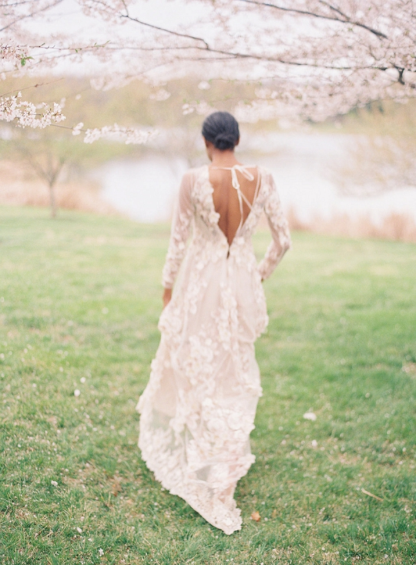 Bride | Cherry Blossom-Inspired Fine Art Wedding Ideas from Angela Newton Roy Photography