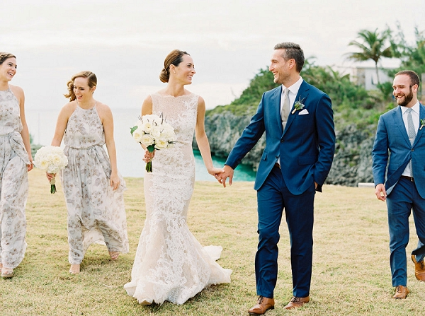Bride and Groom with Bridal Party | Glamorous Wedding Weekend in the Bahamas by Hunter Ryan Photography