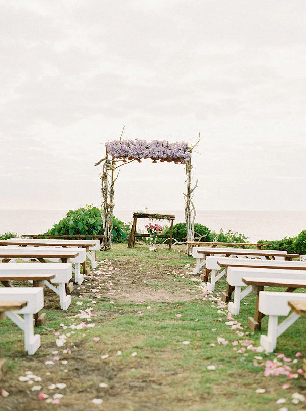 Romantic Ceremony | Glamorous Wedding Weekend in the Bahamas by Hunter Ryan Photography