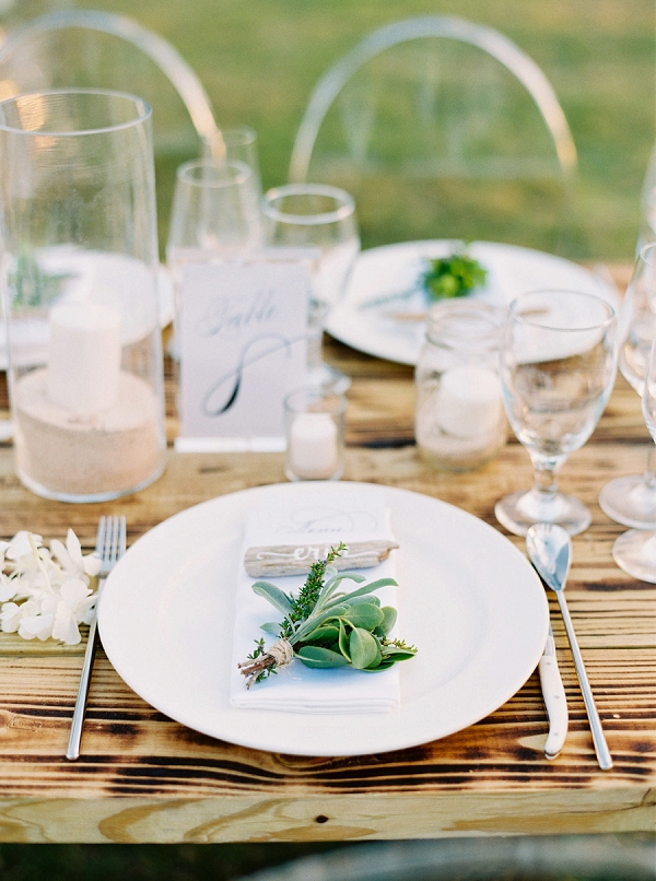 Place Setting | Glamorous Wedding Weekend in the Bahamas by Hunter Ryan Photography