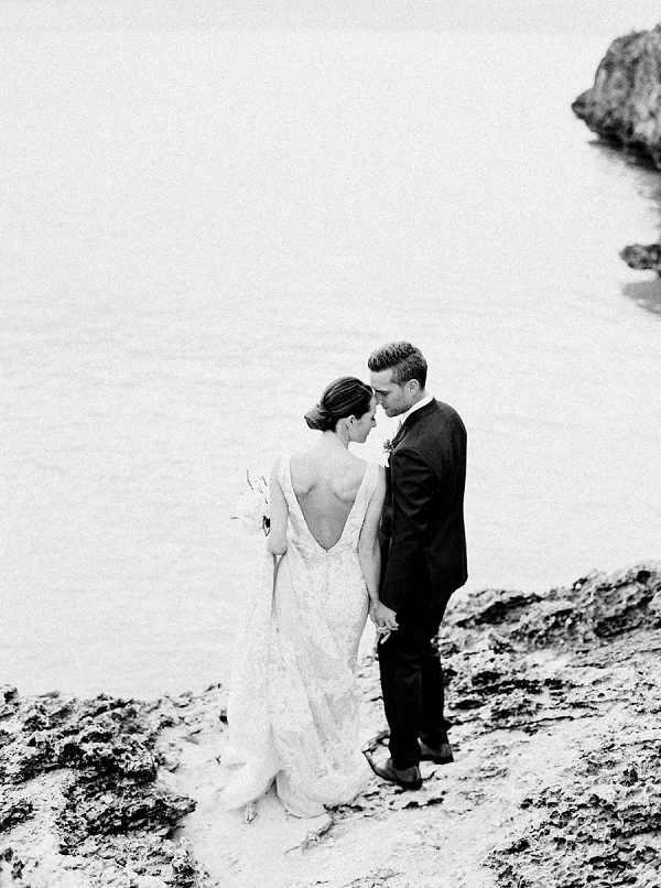 Bride and Groom | Glamorous Wedding Weekend in the Bahamas by Hunter Ryan Photography