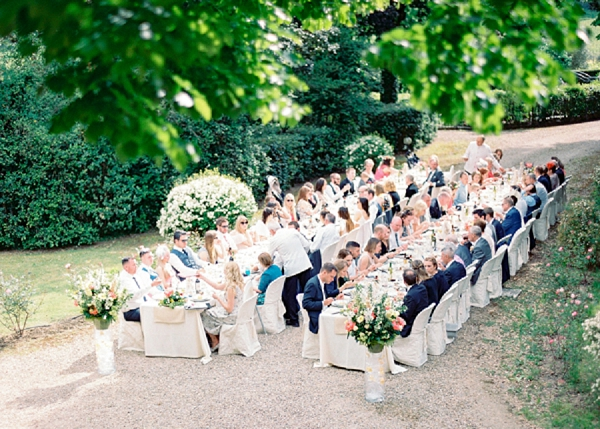 Al Fresco Wedding Reception | Intimate and Romantic Tuscany Destination Wedding by Kir & Ira Photography