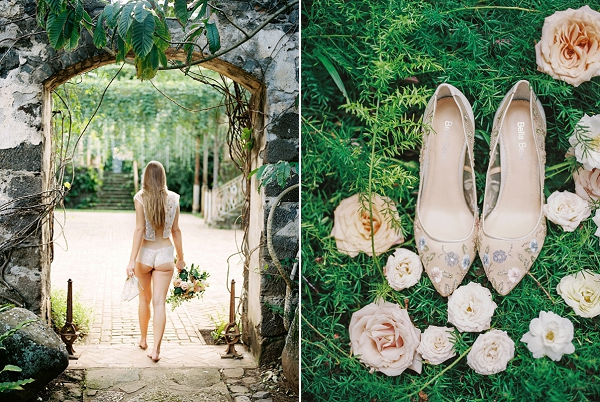 Wedding Shoes | Maui Boudoir and Bridal Inspiration from Matoli Keely Photography