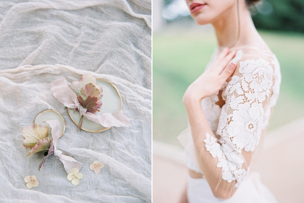 Bridal Crop Top in Lace | Modern Chic Garden Wedding Inspiration by Jenna McElroy Photography