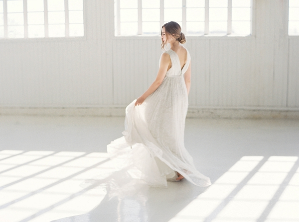 Bride   Modern Minimalism for a Morning Wedding by Maria Lamb Photography