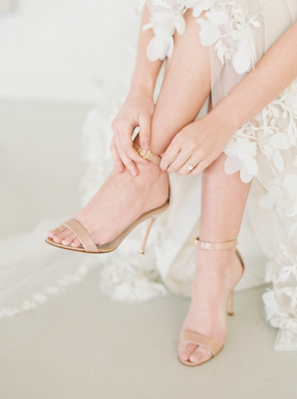 Neutral Bridal Shoes   Modern Minimalism for a Morning Wedding by Maria Lamb Photography